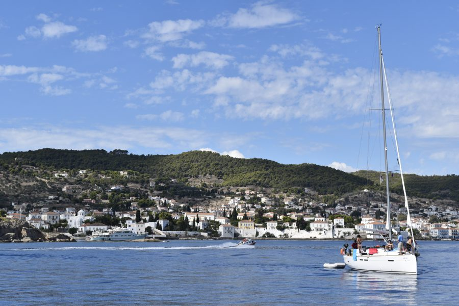 Sail yacht in Spetses